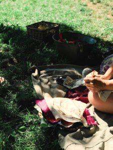 Spielen und basteln auf dem Sommerfest