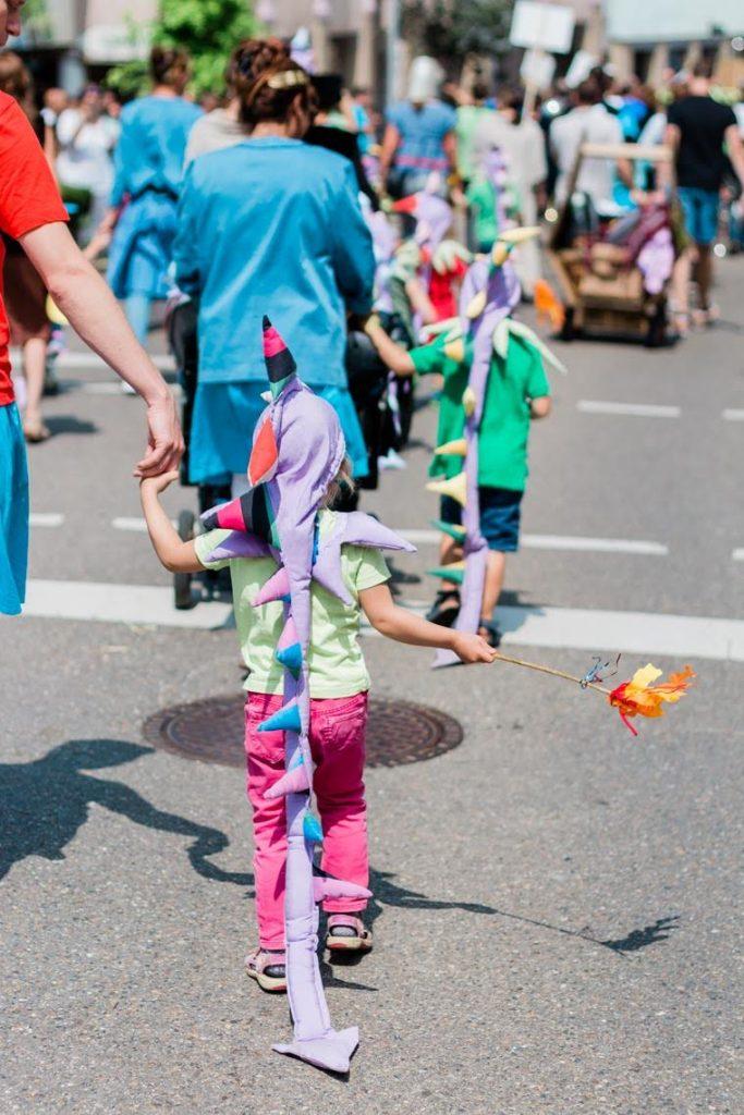 Festumzug Weilheim Teck mit dem Freien Kindergarten
