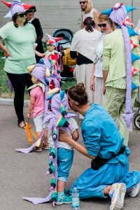Festumzug mit den Kindern des Freien Kindergarten Weilheim Teck